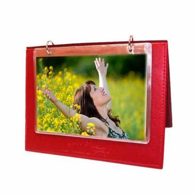 DiPort - Porta retrato  em couro sintético para 8 fotos tamanho 10 x 15 cm.