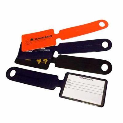 DiPort - Identificador de bagagem em PVC, gravação do logotipo em serigrafia.