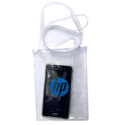 DiPort - Bolsa com alça/porta celular em pvc transparente ou colorido com fecho zipzap.  Tamanho 145x190mm, ideal para transporte de celulares ou pequenos obje...