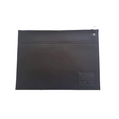 DiPort - Pasta envelope de couro sintético com fechamento por zíper