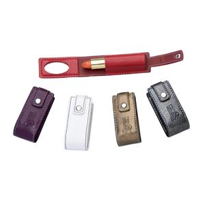 DiPort - Porta batom personalizado em couro sintético, para 1 batom, com personalização da logomarca em baixo relevo.