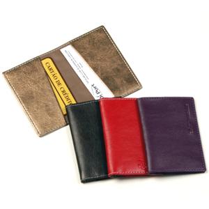 DiPort - Porta cartões de bolso personalizado em couro sintético, com dois compartimentos para cartões e logomarca em baixo relevo.