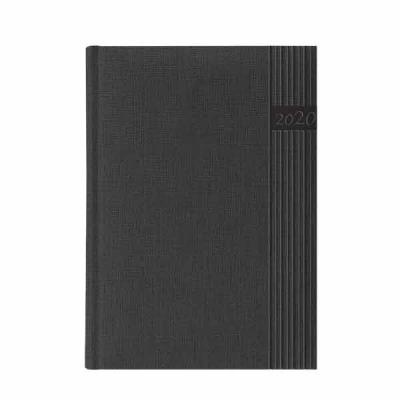 Vecelka Brindes - Agendas Personalizadas 2020,  capa 27-JEANS, encadernada, cores gray, indigo blu, black e brown, disponível para os miolos diários e semanais, papel b...