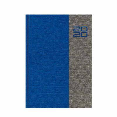 Vecelka Brindes - Agendas Personalizadas 2020, capa J1-Juta, encadernada, cores royal/cinza, vermelho/cinza, laranja/cinza, disponível para os miolos diários e semanais...