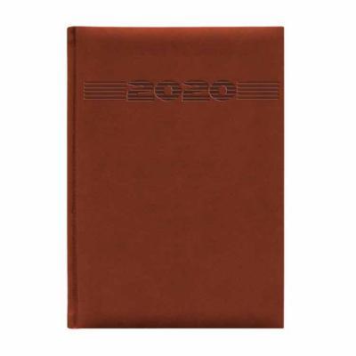 Vecelka Brindes - Agenda Personalizada 2021 Pombo, capa 25-Tucson, encadernada , cores laranja, terracota, preto, azul china, verde maça, azul royal e berinjela,  dispo...