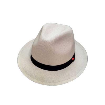 Vecelka Brindes - Chapéu Sambista de Lona Algodão EC702 Tipo Panamá, com fita bordada.  Tamanhos P, M, G, GG