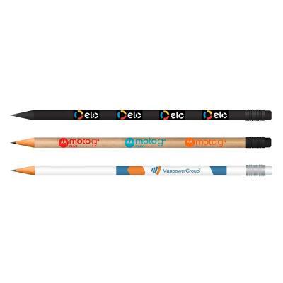 Vecelka Brindes - Lápis com Borracha Madeira Reflorestada, personalizados com impressão digital, produzido  com madeira 100% reflorestada. Mina resistente com graduação...