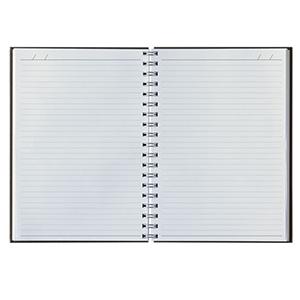 Vecelka Brindes - Cadernos personalizados Pombo 16,8 x 24,0cm em papel branco, 192 páginas, modelo 625, impressão em cinza 447, wire-o prata, furação quadrada, dados pe...