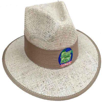 Chapéu de juta com forro na aba bordado - 172308  de8b95a3aa3