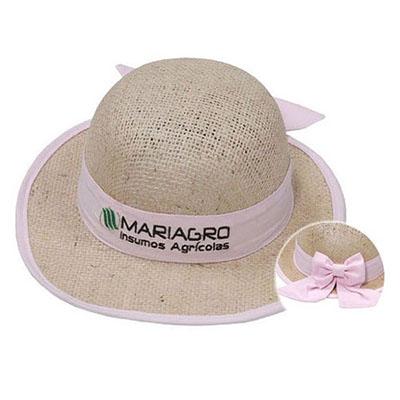 Vecelka Brindes - Chapéu de Juta Natural ou boné em juta,  100% Biodegradável, não provoca danos ambientais e nem a saúde,customizado com forro na aba e laço,  matéria...
