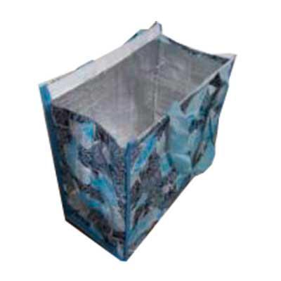 Mundo das Sacolas - Sacola Tèrmica em Ráfia Laminada 120 grs. Tamanho  35 cm x 45 cm x  20 cm , Alça em Nylon  com 50 / 60 ( mão - ombro) , Revetimento térmico interno, F...