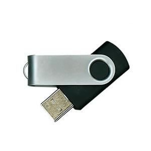 MPB Brindes - Pen drive com proteção giratória com capacidade para 2 GB, 4 GB ou 8 GB.