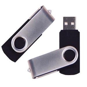 MPB Brindes - Pen drive modelo giratório, com varias capacidades , personalizado com 1 gravação a laser