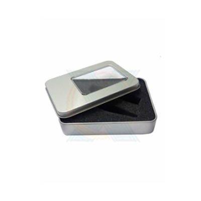 AGP Brindes - Estojo para pendrive personalizado prata