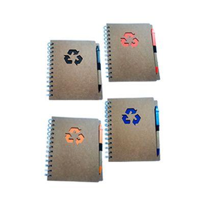 AGP Brindes - Bloco de anotações ecológico, acompanha caneta