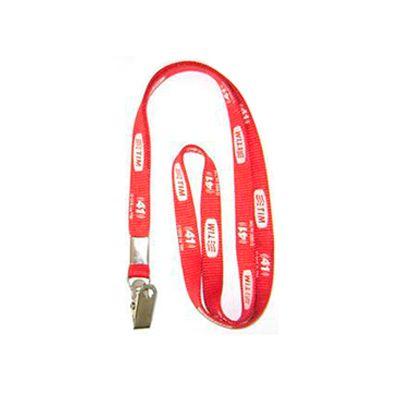 AGP Brindes - Cordão personalizado para crachá em diversas cores e modelos com chapa e jacaré
