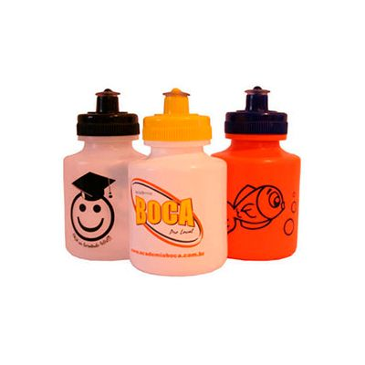 AGP Brindes - Squeeze de plástico resistente personalizada, com capacidade para 300 ml e tampa rosqueável