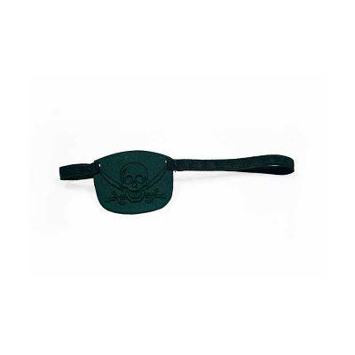 JOMO - Tapa olho promocional,  termomoldado com revestimento externo e interno em poliéster preto. Ajuste com elástico. Dimensões: 60 x 50 x 3 mm
