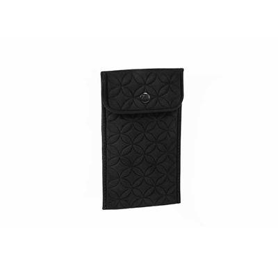JOMO - Bolsa porta celular com revestimento externo em veludo e interno em poliéster. Fechamento em botão de pressão. Alça de ombro de 70 cm opcional. Dimens...