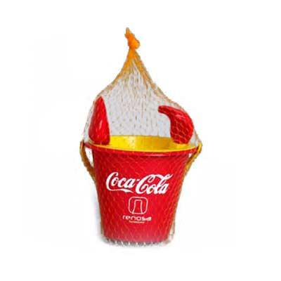 Estilo Brindes - Balde de praia personalizado, contendo 1 balde + 1 peneira + 1 pá + 1 rastelo embalados em 1 redinha. Sua marca proporcionando momentos de diversão.
