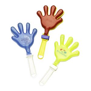Estilo Brindes - Bate palminhas personalizado pequeno - Em cores sortidas.