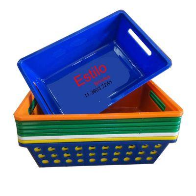 Estilo Brindes - Cesta plástica em diversas cores