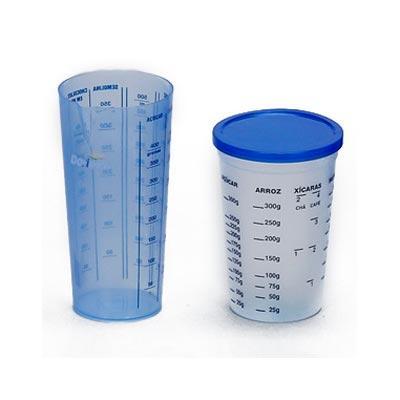 Estilo Brindes - Copo plástico personalizado medidor, com tampa e sem tampa. Contém impresso a graduação.