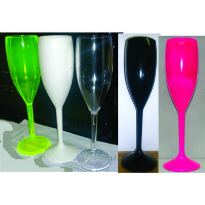 Estilo Brindes - Taça plástica para champanhe.