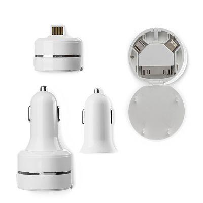 Creative Design - Tomada USB para Carro com Adaptador de 3 saídas.