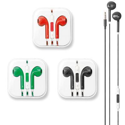 Creative Design - Fone de ouvido com fio e controle de volume - Fechado 60 x 60 x 20 mm - Extensão 1,20 m.
