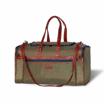 Ledmark Produtos Promocionais - Bolsa de viagem em poliéster 600 e couro sintético