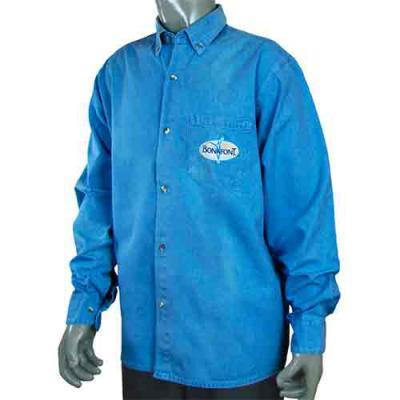 Ledmark Produtos Promocionais - Camisa Jeans personalizada