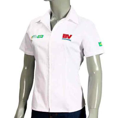 Ledmark Produtos Promocionais - Camisa social com zíper