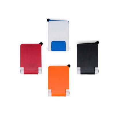 Absoluty Brindes - Base para celular de mesa em plástico com touch