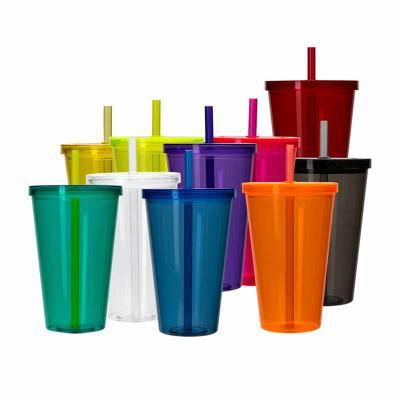 Absoluty Brindes - Copo plástico de 1 litro com tampa e canudo