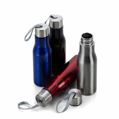 Absoluty Brindes - Squeeze metálico 780ml com tampa rosqueável e alça de nylon.