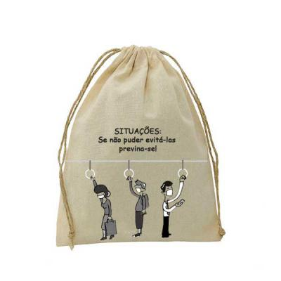 Embalabrindes - Saco de Algodão Cru - Campanha de Prevenção
