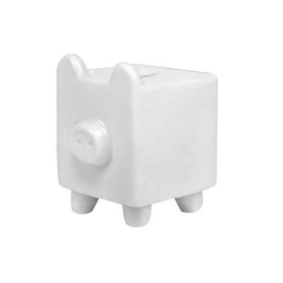 D.Kore Porcelanas - Cofre porquinho quadrado