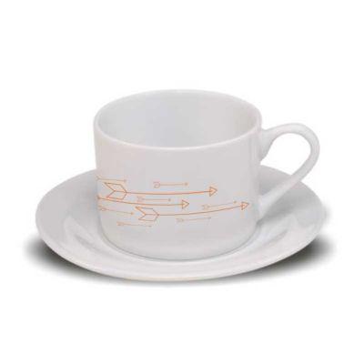 d-kore-porcelanas - Xícara de chá com pires branca reta 170ml.