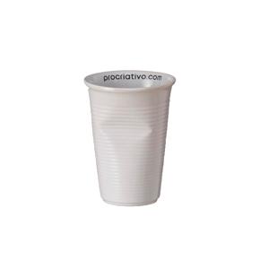d-kore-porcelanas - Copo Personalizado Amassado em Porcelana - 240 ml.