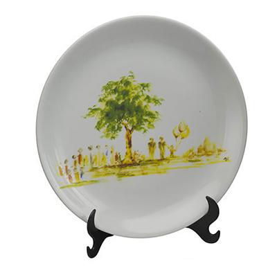 d-kore-porcelanas - Prato decorado de porcelana Coup.