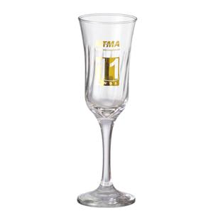 D.Kore Porcelanas - Taça de Champanhe Personalizada Lírio.