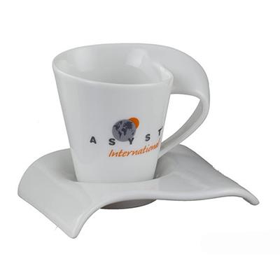 D.Kore Porcelanas - Xícara de café com pires Havai 60ml.