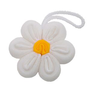 For Import - Esponja de banho formato de flor branca