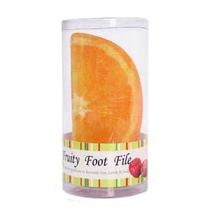 For Import - Lixa para pé em PVC, na forma de laranja - Usada para esfoliar, amaciar, tirar calosidade dos pés deixando-os mais leves e confortáveis durante o proc...