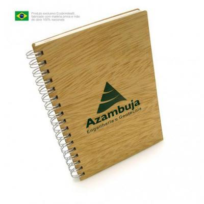 Ecobrindes - Mini caderno de madeira
