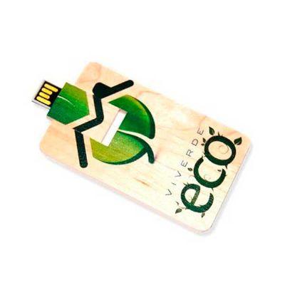 Ecobrindes - Pen drive bambu card