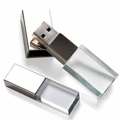 Reina Brindes Promocionais - Pen Drive 4GB de vidro com tampa plástica