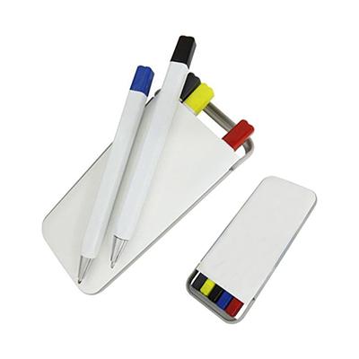 Reina Brindes Promocionais - Kit de canetas marca texto.