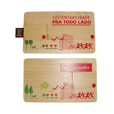 Reina Brindes Promocionais - Pen Card Ecológico 4Gb com gravação em silk.